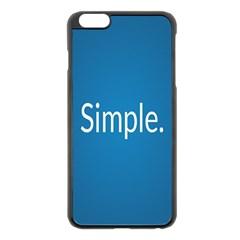 Simple Feature Blue Apple iPhone 6 Plus/6S Plus Black Enamel Case