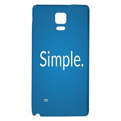 Simple Feature Blue Galaxy Note 4 Back Case
