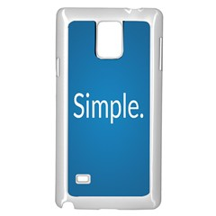 Simple Feature Blue Samsung Galaxy Note 4 Case (White)