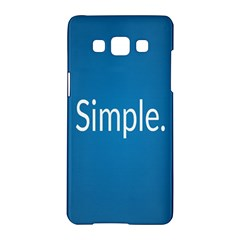 Simple Feature Blue Samsung Galaxy A5 Hardshell Case