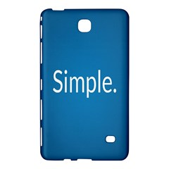 Simple Feature Blue Samsung Galaxy Tab 4 (7 ) Hardshell Case