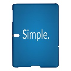 Simple Feature Blue Samsung Galaxy Tab S (10.5 ) Hardshell Case