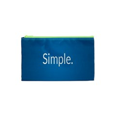Simple Feature Blue Cosmetic Bag (XS)