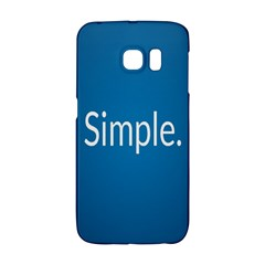 Simple Feature Blue Galaxy S6 Edge
