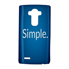 Simple Feature Blue LG G4 Hardshell Case