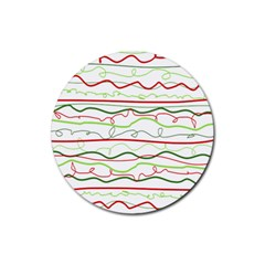 Rope Pitha Rubber Round Coaster (4 pack)
