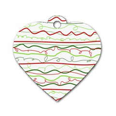 Rope Pitha Dog Tag Heart (One Side)