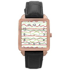 Rope Pitha Rose Gold Leather Watch