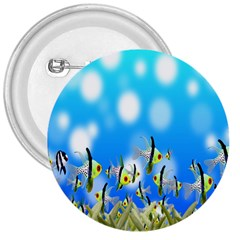Pisces Underwater World Fairy Tale 3  Buttons