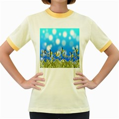 Pisces Underwater World Fairy Tale Women s Fitted Ringer T-Shirts