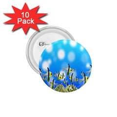Pisces Underwater World Fairy Tale 1.75  Buttons (10 pack)
