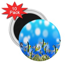 Pisces Underwater World Fairy Tale 2.25  Magnets (10 pack)