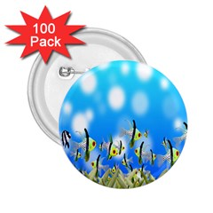 Pisces Underwater World Fairy Tale 2.25  Buttons (100 pack)