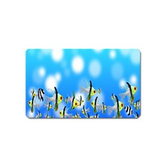 Pisces Underwater World Fairy Tale Magnet (Name Card)