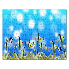 Pisces Underwater World Fairy Tale Rectangular Jigsaw Puzzl