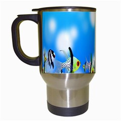 Pisces Underwater World Fairy Tale Travel Mugs (White)