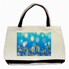 Pisces Underwater World Fairy Tale Basic Tote Bag (Two Sides)