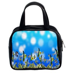 Pisces Underwater World Fairy Tale Classic Handbags (2 Sides)