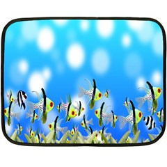 Pisces Underwater World Fairy Tale Fleece Blanket (Mini)