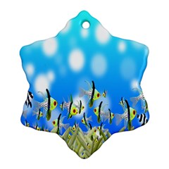 Pisces Underwater World Fairy Tale Ornament (Snowflake)