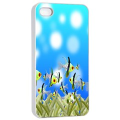 Pisces Underwater World Fairy Tale Apple iPhone 4/4s Seamless Case (White)