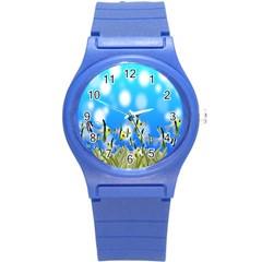 Pisces Underwater World Fairy Tale Round Plastic Sport Watch (S)