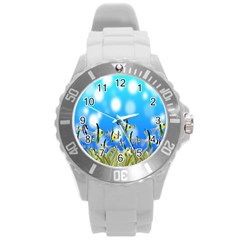 Pisces Underwater World Fairy Tale Round Plastic Sport Watch (L)