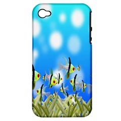 Pisces Underwater World Fairy Tale Apple iPhone 4/4S Hardshell Case (PC+Silicone)