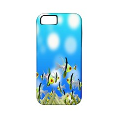 Pisces Underwater World Fairy Tale Apple iPhone 5 Classic Hardshell Case (PC+Silicone)