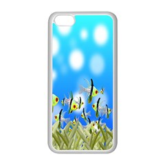 Pisces Underwater World Fairy Tale Apple iPhone 5C Seamless Case (White)