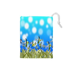 Pisces Underwater World Fairy Tale Drawstring Pouches (Small)