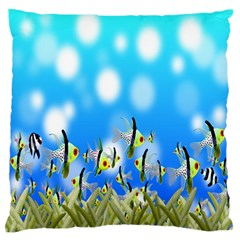 Pisces Underwater World Fairy Tale Standard Flano Cushion Case (two Sides)