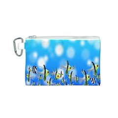 Pisces Underwater World Fairy Tale Canvas Cosmetic Bag (S)