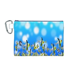 Pisces Underwater World Fairy Tale Canvas Cosmetic Bag (m)