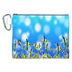 Pisces Underwater World Fairy Tale Canvas Cosmetic Bag (XXL)
