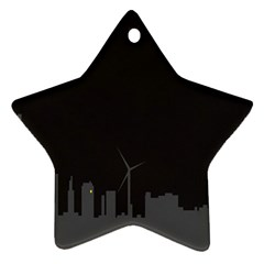 Windmild City Building Grey Ornament (Star)