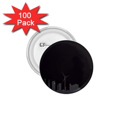 Windmild City Building Grey 1.75  Buttons (100 pack)