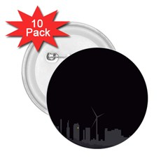 Windmild City Building Grey 2.25  Buttons (10 pack)