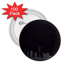 Windmild City Building Grey 2.25  Buttons (100 pack)