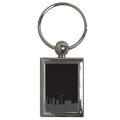 Windmild City Building Grey Key Chains (Rectangle)
