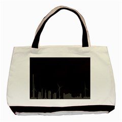 Windmild City Building Grey Basic Tote Bag (Two Sides)