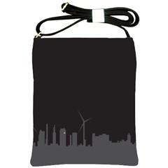 Windmild City Building Grey Shoulder Sling Bags