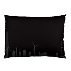 Windmild City Building Grey Pillow Case (Two Sides)