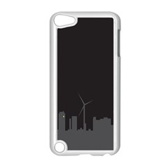 Windmild City Building Grey Apple iPod Touch 5 Case (White)