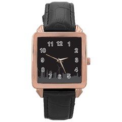 Windmild City Building Grey Rose Gold Leather Watch