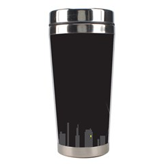 Windmild City Building Grey Stainless Steel Travel Tumblers