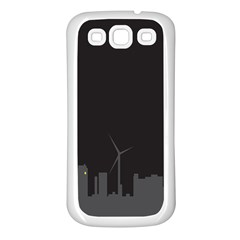 Windmild City Building Grey Samsung Galaxy S3 Back Case (White)