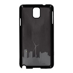 Windmild City Building Grey Samsung Galaxy Note 3 Neo Hardshell Case (Black)
