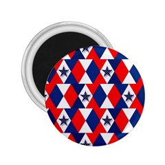 Patriotic Red White Blue 3d Stars 2.25  Magnets