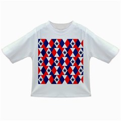 Patriotic Red White Blue 3d Stars Infant/Toddler T-Shirts